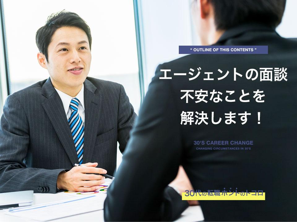 転職エージェントの面談を受ける男性