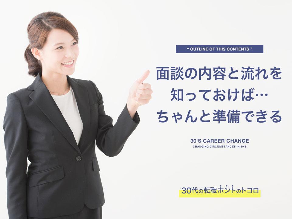 面談内容を教える転職エージェントの女性
