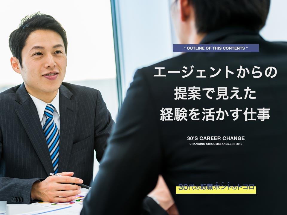 転職エージェントに相談する営業マン